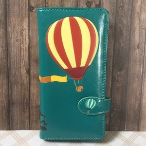 NWT Wallet - Paris Hot Air Balloons -Vegan Leather